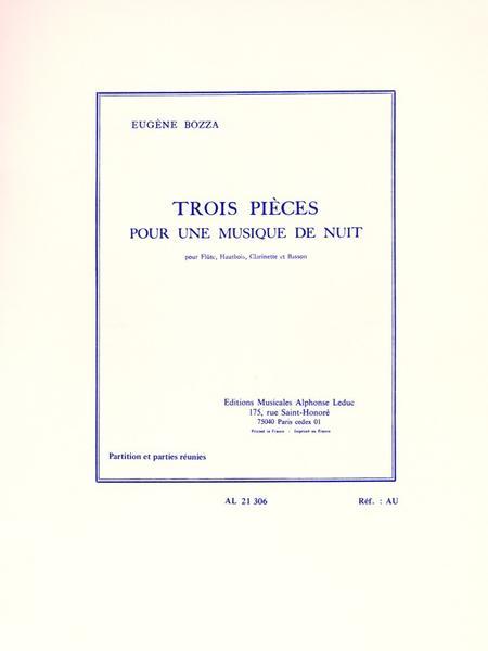 3 Pieces Pour Une Musique De Nuit - Flute Hautbois Clar Basson