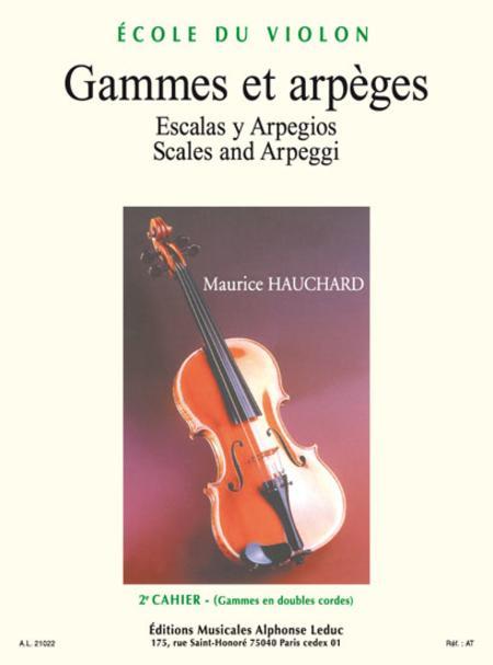 Gammes et Arpeges Volume 2 - Violon
