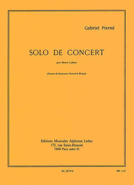 Solo de Concert Op35 - Basson et Piano