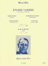 Etudes Variees Dans Toutes Les Tonalites Saxophone