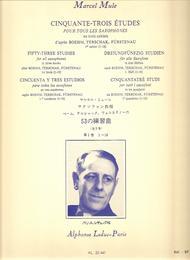 53 Etudes D'Apres Boehm Terschack et Furstenau Volume 1 - Saxophone