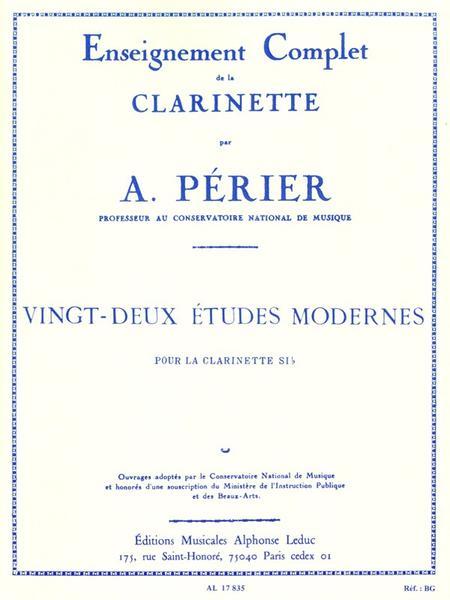 22 Etudes Modernes - Clarinette
