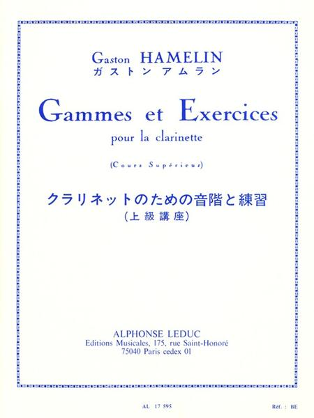 Gammes et Exercices - Clarinette