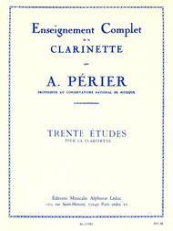 30 Etudes - Clarinette