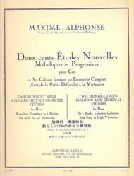 200 Etudes Nouvelles Volume 2: 40 Etudes Faciles - Cor
