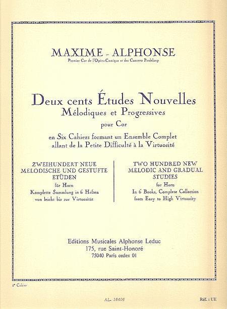 200 Etudes Nouvelles Volume 5: 20 Etudes Tres Difficiles - Cor