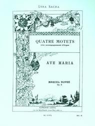 4 Motets Op9 No.2: Ave Maria - Chant Et Orgue
