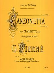 Canzonetta Op19 - Clarinette et Piano