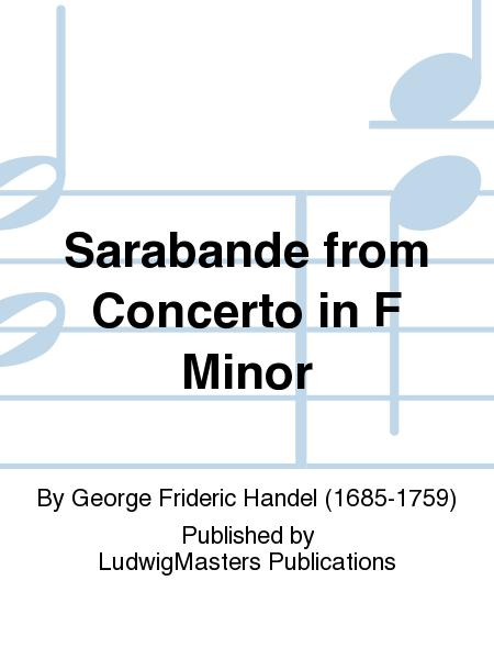 Sarabande from Concerto in F Minor