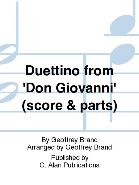 Duettino from 'Don Giovanni' (score & parts)