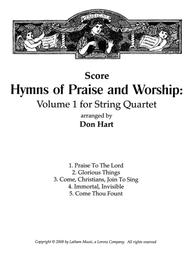Hymns of Praise and Worship: Volume 1 for String Quartet - Score