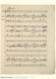 Franz Schubert Music Manuscript Poster