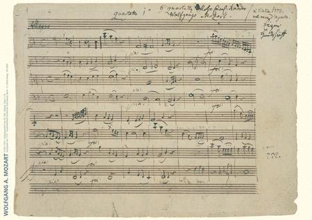 Wolfgang Amadeus Mozart Music Manuscript Poster (HL ...Wolfgang Amadeus Mozart Music List