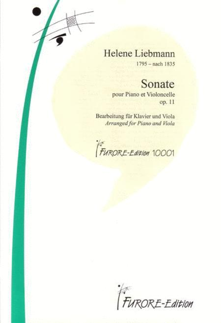 Sonate pour Piano et Violoncelle op. 11