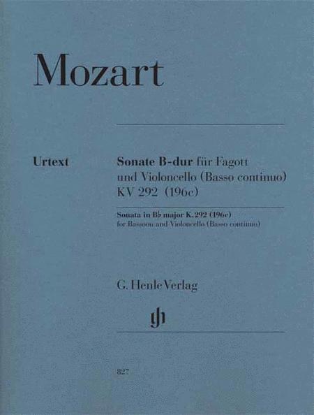 Sonata in B-flat Major, K. 292 (196c)