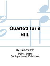 Quartett fur 9 Blfl.