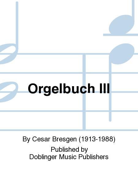 Orgelbuch III