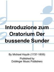 Introduzione zum Oratorium Der bussende Sunder