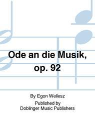 Ode an die Musik, op. 92