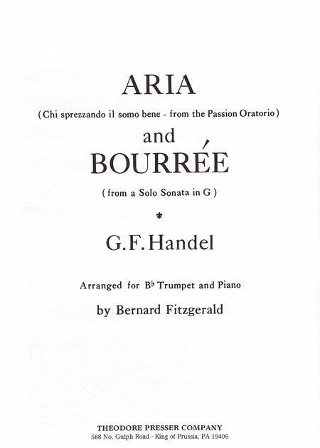 Aria (Chi sprezzando il somo bene - from the Passion Oratorio) and BourrTe (from a Solo Sonata in G)