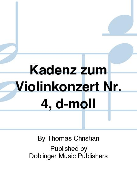 Kadenz zum Violinkonzert Nr. 4, d-moll