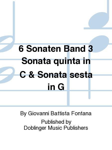 6 Sonaten Band 3 Sonata quinta in C & Sonata sesta in G