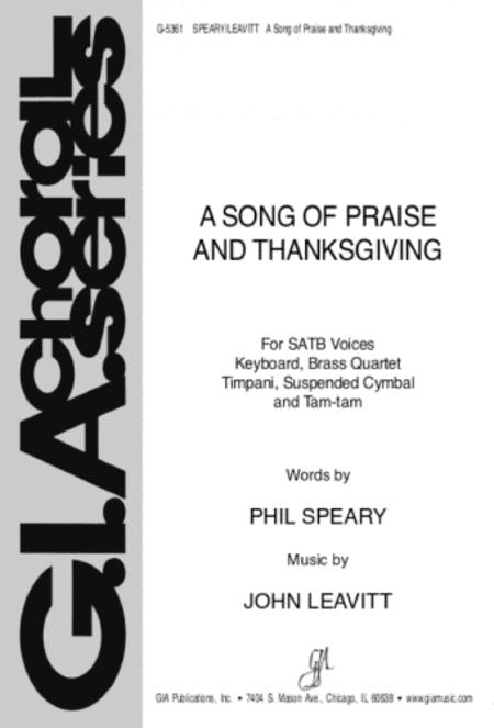 A Song of Praise and Thanksgiving - Instrument edition