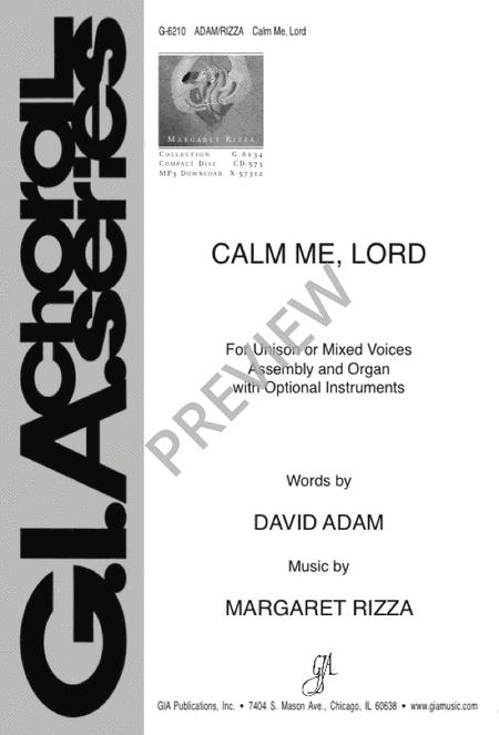 Calm Me, Lord Sheet Music By Margaret Rizza - Sheet Music Plus