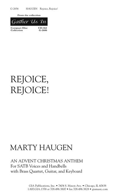 Rejoice, Rejoice (Instrumental Parts)