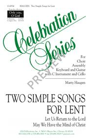 Two Simple Songs for Lent