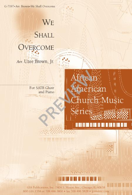 We Shall Overcome Sheet Music By Traditional Spiritual Sheet Music