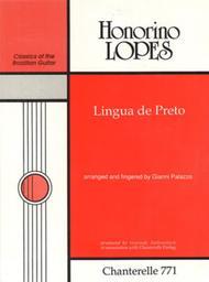 Honorino Lopes: Lingua de Preto