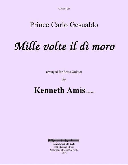 Mille volte il di moro (for brass quintet)