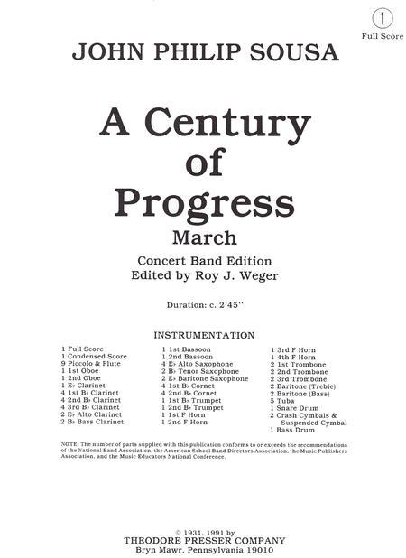 A Century of Progress March