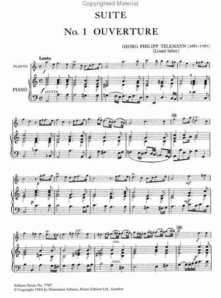 Georg Philipp Telemann: Suite in a minor sheet music