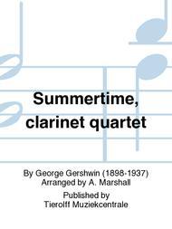 Summertime, clarinet quartet