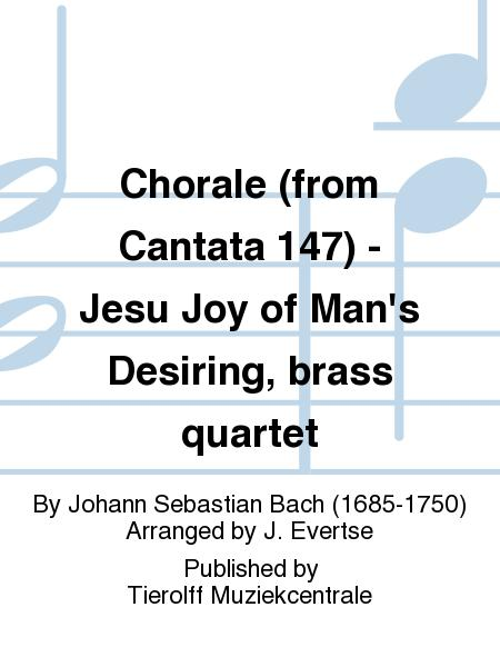 Chorale (from Cantata 147) - Jesu Joy of Man's Desiring, brass quartet