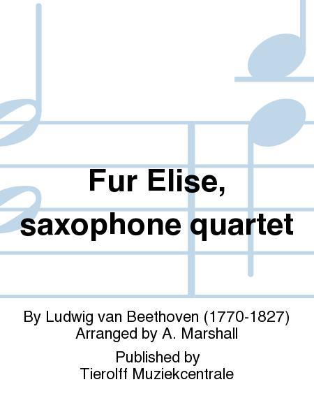 Fur Elise, saxophone quartet
