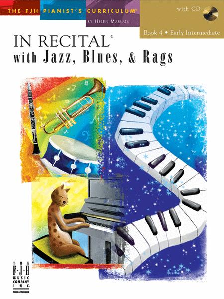 In Recital with Jazz, Blues, & Rags, Book 4 (NFMC)