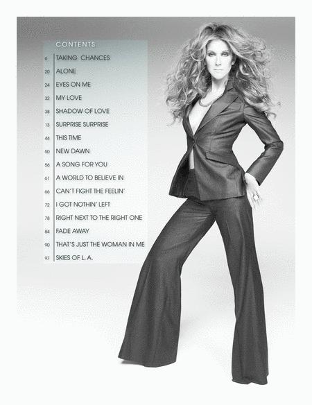 Celine Dion: Taking Chances (Selections): Piano Book