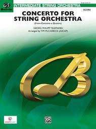 Concerto for String Orchestra (Score only)