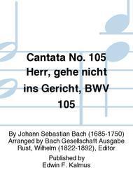 Cantata No. 105 Herr, gehe nicht ins Gericht, BWV 105
