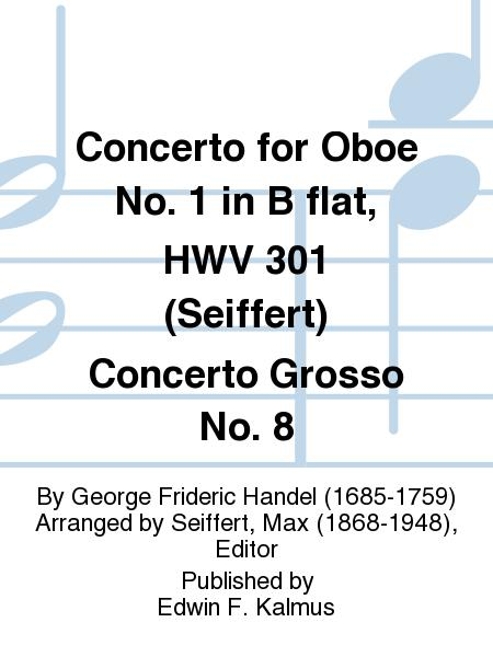 Concerto For Oboe No 1 In B Flat Hwv 301 Seiffert Concerto