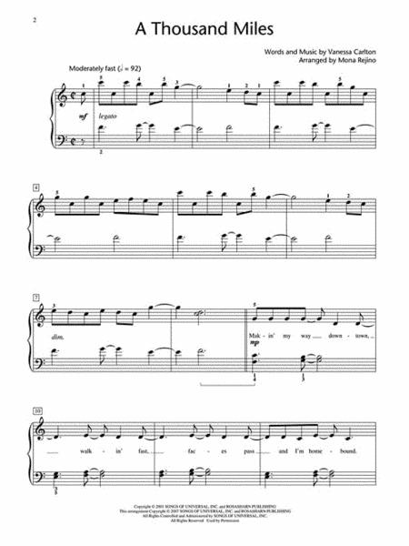 A Thousand Miles Piano Sheet Music Ibovnathandedecker