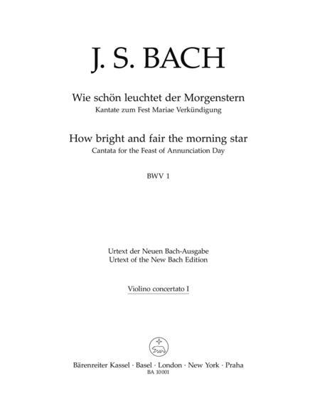 Wie schon leuchtet der Morgenstern BWV 1