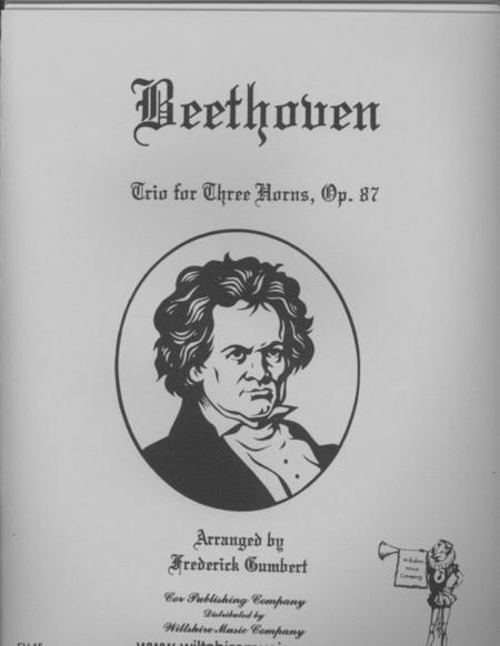 Trio for Three Horns, Op. 87