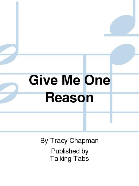 Give Me One Reason Sheet Music By Tracy Chapman Sheet Music Plus