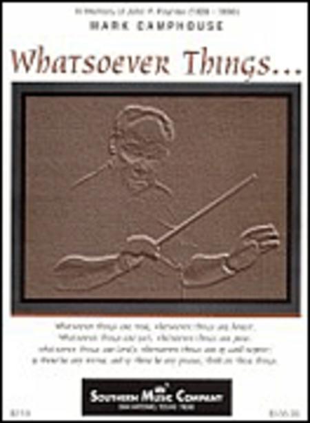 Whatsoever Things