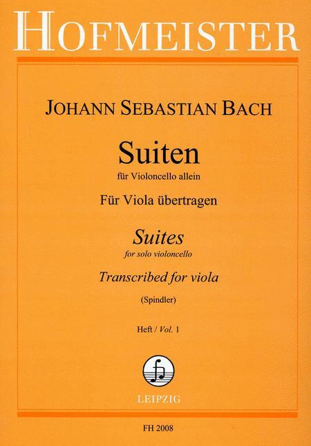 Suiten fur Violoncello. Fur Viola ubertragen, Heft 1