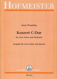 Konzert C-Dur fur 2 Violen und Orchester / KlA